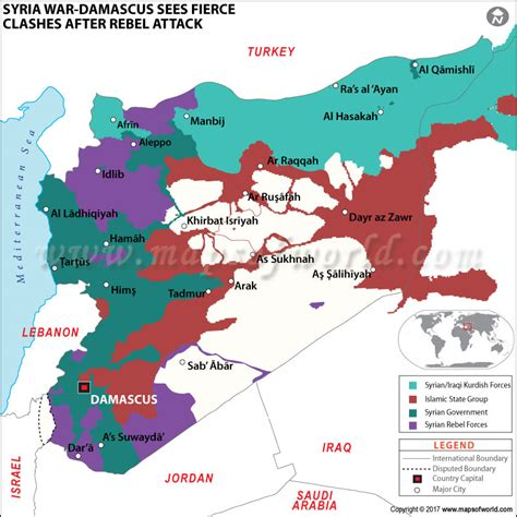 Syrian civil war map - News and Events