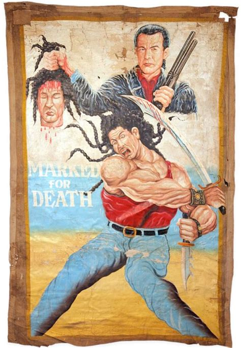 Ghanaian Movie Poster: Steven Seagal's Marked for Death (1990)