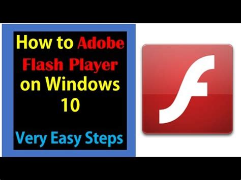 how to install adobe flash player on windows 10 very easy