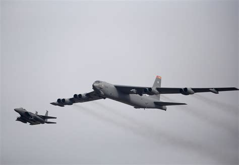 US to deploy nuclear-capable B52 aircraft in first bombing