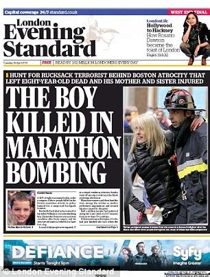 Boston explosions: Front pages of newspapers across the