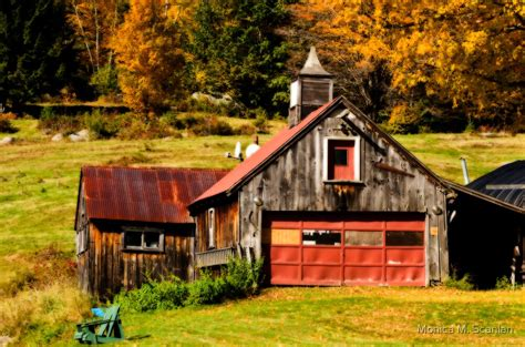 """""""Old New England Barn in Autumn"""" by Monica M"""