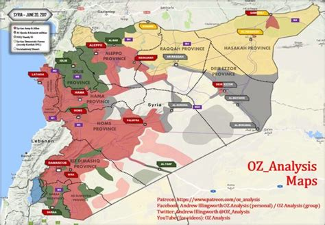 Complete map of Syria War: mid-June update   Syria Truths