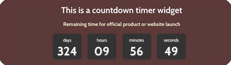 Free Countdown Timer Widget for Weebly Site » WebNots
