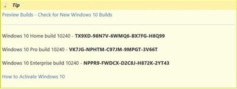 How to activate WIn10 Build 10240 CLean Install Solved