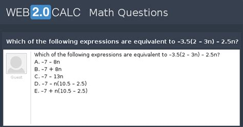 View question - Which of the following expressions are