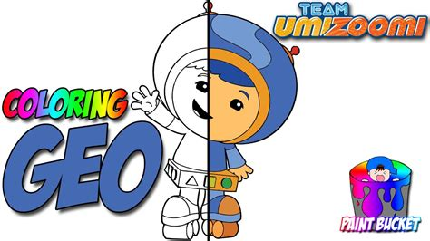 How to Color Team Umizoomi Geo Coloring Page - Nickelodeon